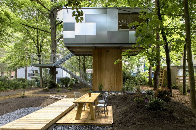 Urban Treehouse от Baumraum (4)