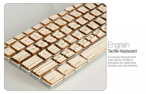 Engrain Tactile Keys. Деревянная клавиатура