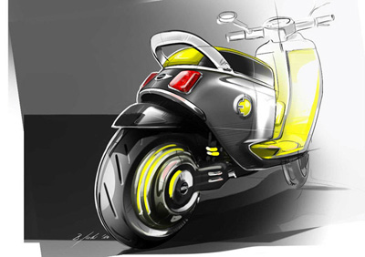 Электроскутер Mini E Scooter Concept