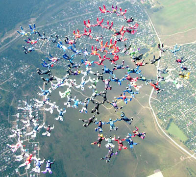 Skydiving -Рекорд мира 400-way установлен!